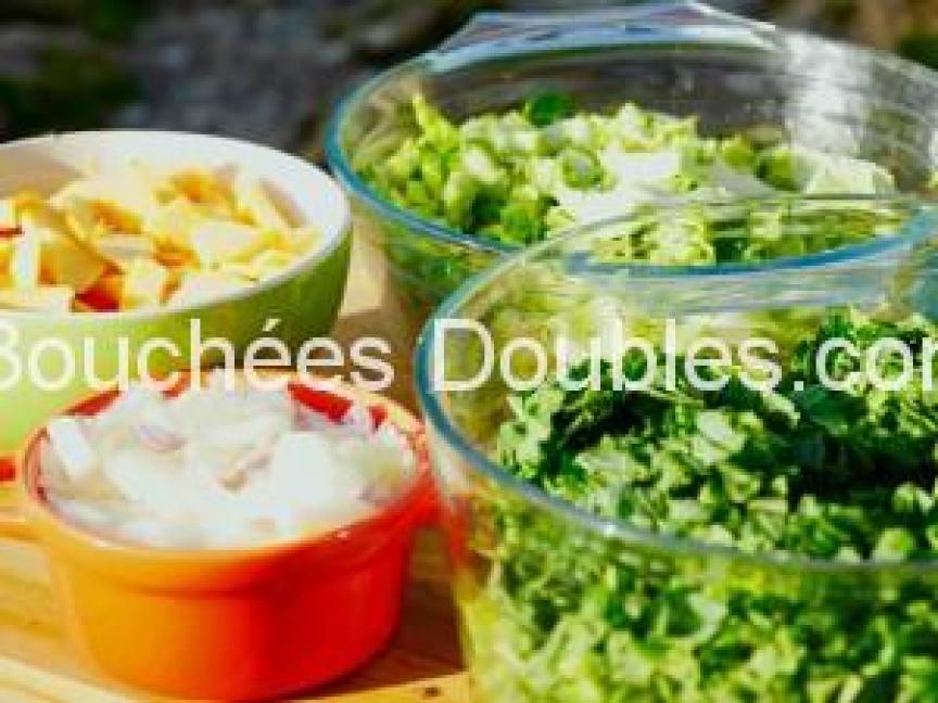 Ingredients prepares chou tête et courge - copie