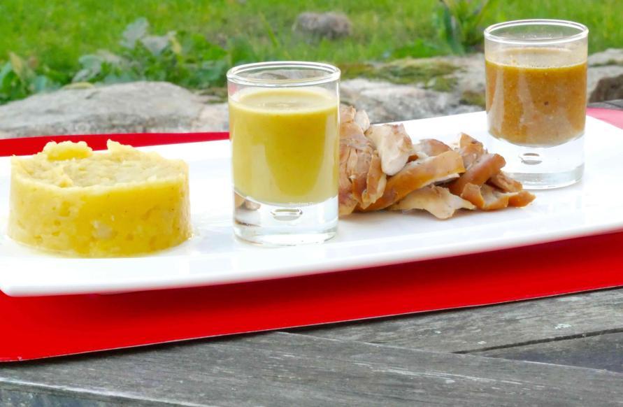 dressage assiette du lapin a la cacahuete
