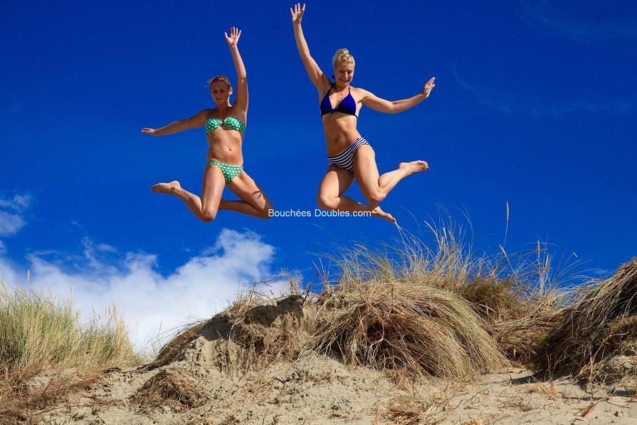 Saut dynamique au dessus d'une dune