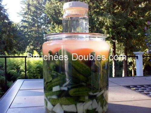 Bocal de légumes lacto-fermentés