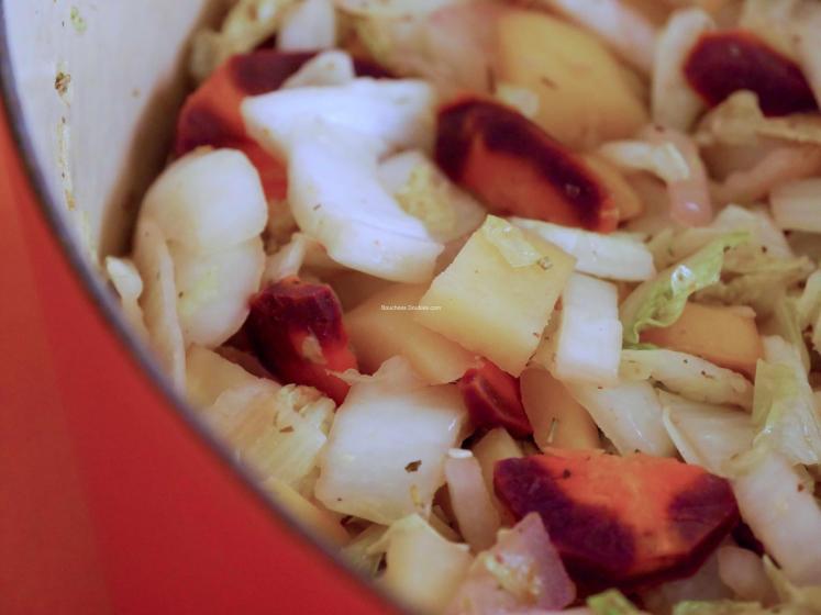 sauté de chou chinois et trio de légumes 3