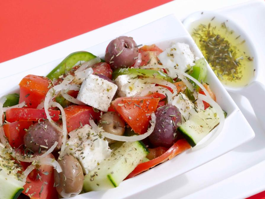 La salade grecque horiatiki salata une recette simple - Cuisine saine et simple ...