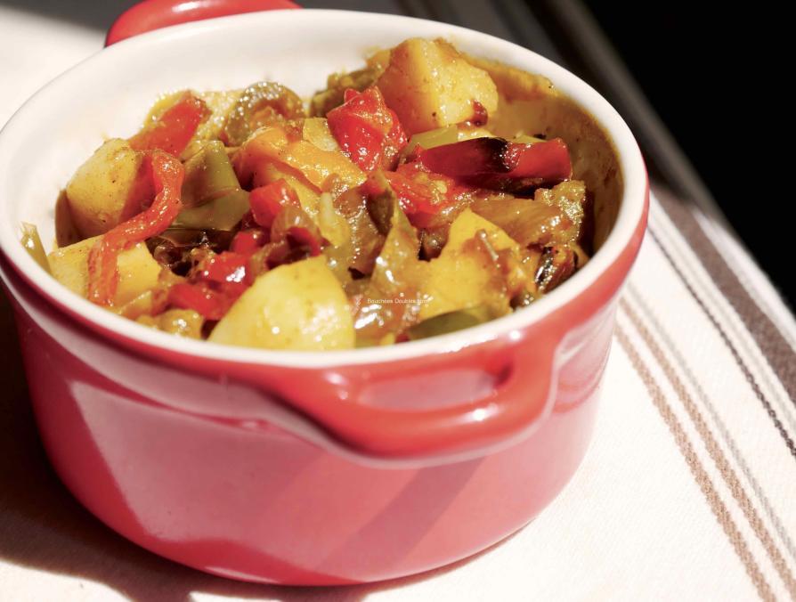 Recette alcaline de poivrons confits et pommes de terre