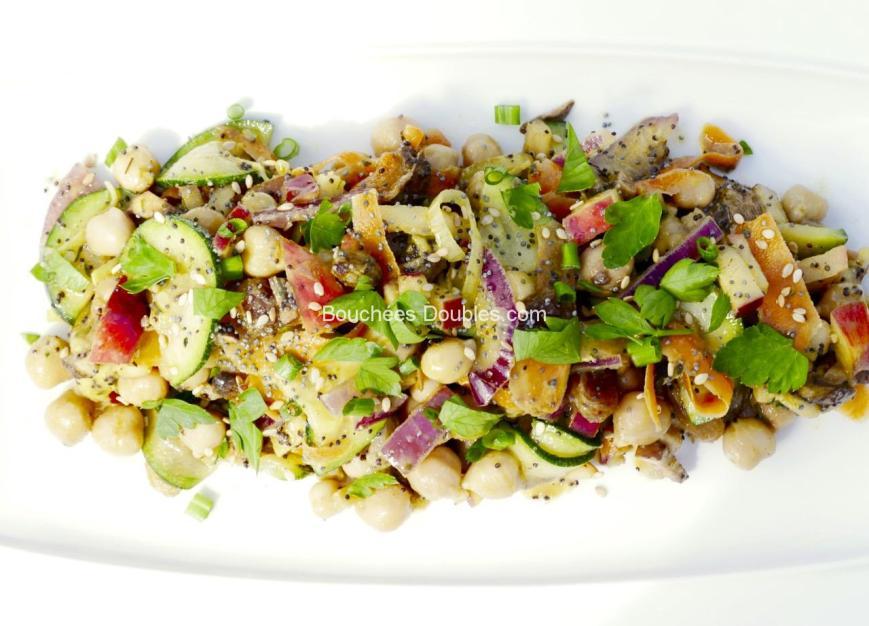 Salade composée sucrée-salée