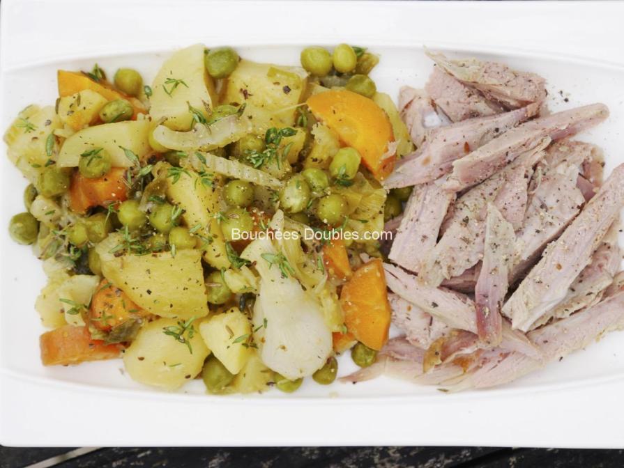 Cliquez ici pour découvrir la photo de cette recette alcaline complète de jardinière de légumes et dinde marinée aux agrumes.