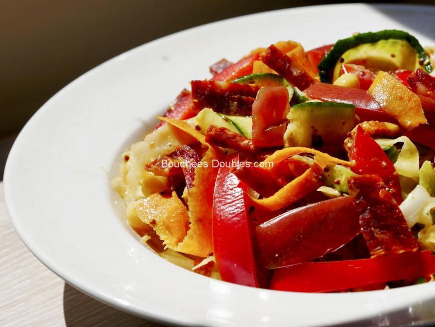 recette alcaline - tagliatelles de légumes et pois chiches.