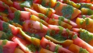 Salade tomates et basilic