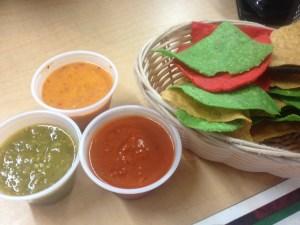 Tortillas et salsa