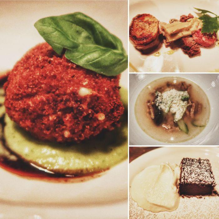 Repas inspiré d'Émilie-Romagne en quatre service chez Barcola Bistro