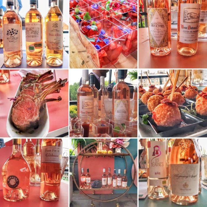 Toutes les teintes du rosé de Provence.