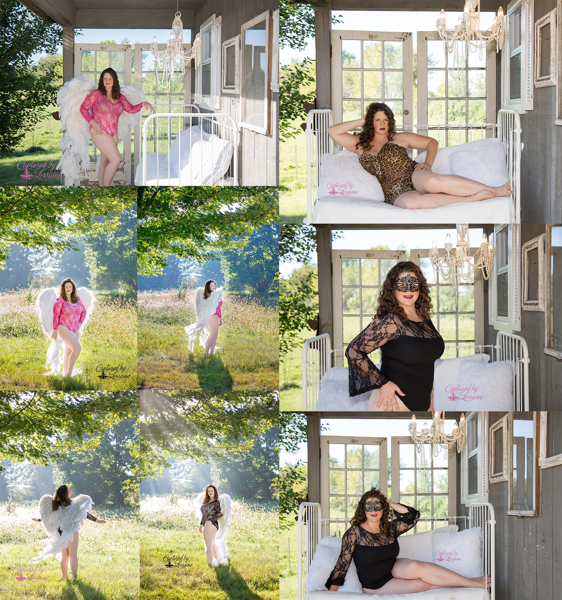 Outdoor Angel Wing Boudoir Session-Elgin Illinois