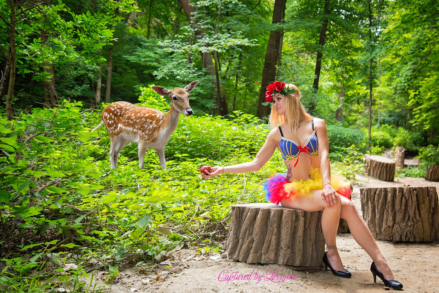 Snow White Disney Boudoir Outdoors