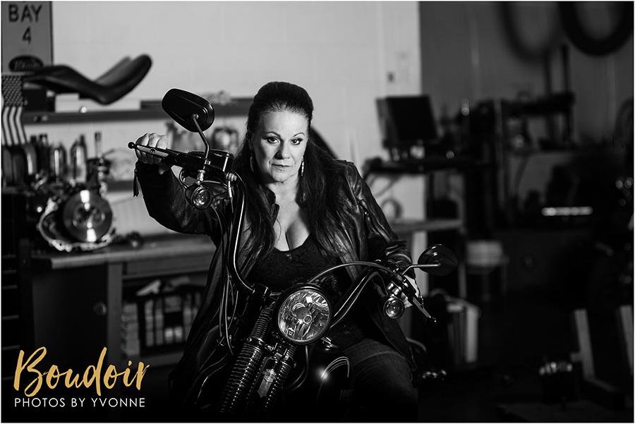 Harley Davidson boudoir shoot