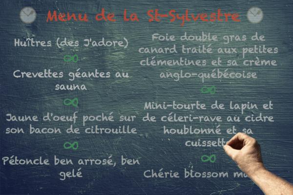 Menu de la st-sylvestre | BouffeTIME!
