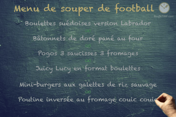 Menu de souper de football | BouffeTIME!