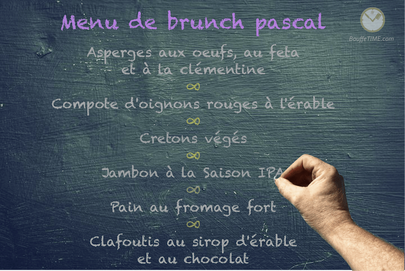 Menu de brunch pascal | BouffeTIME!