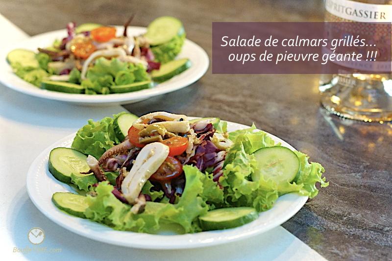 Recette de salade de calmars grillés | BouffeTIME!