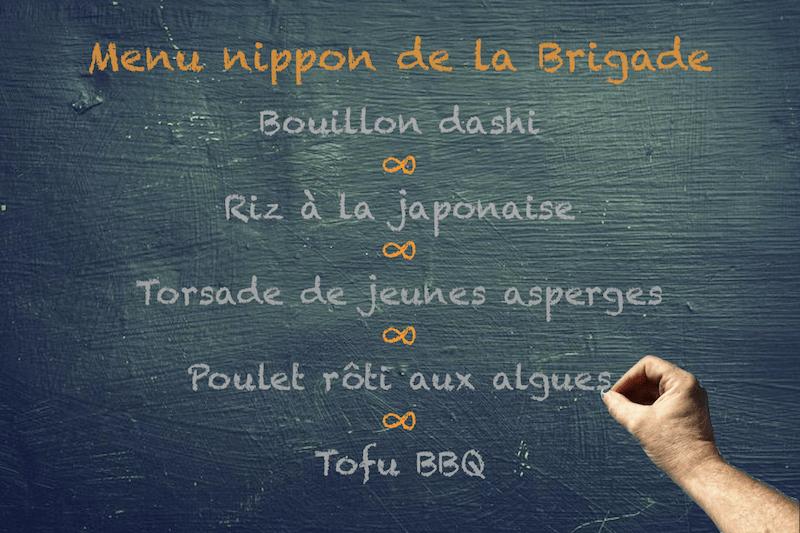 Menu nippon de la Brigade | BouffeTIME!