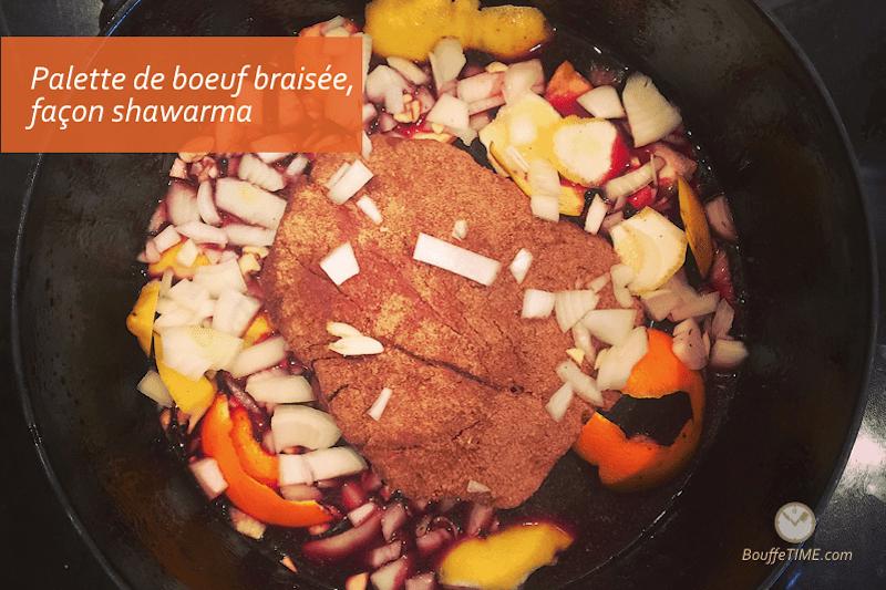 Recette de palette de bœuf braisé, façon shawarma | BouffeTIME!