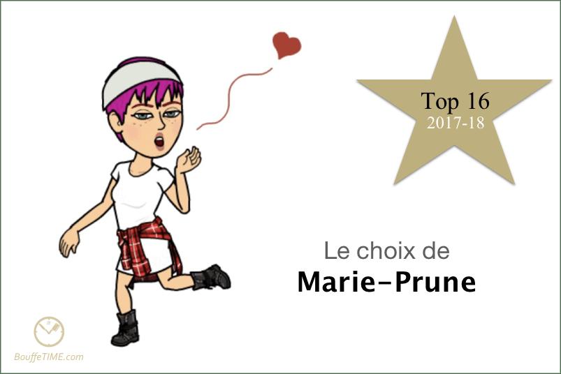 Le choix de Marie-Prune Lanoie | Top 16 2017-18 | BouffeTIME!