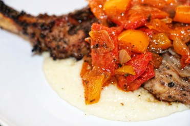 Southern Grits + Grilled Pork Chop - Entree