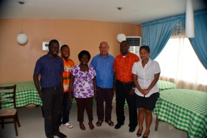 President Momis with UPNG students