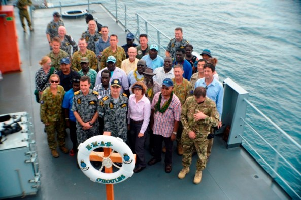 Delegation aboard HMSA Choules
