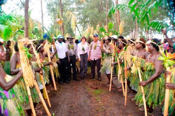 Delegation Welcomed in Torokina