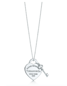 Click Image to Buy Tiffany&Co Heart Tag with Key pendant as a Mother's Day Gift