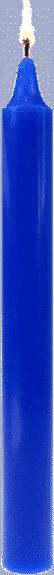 Bougie couleur bleu roi la faveur par bougie vip