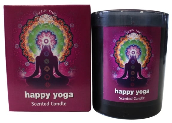 Bougie de Meditation Happy Yoga Green Tree .