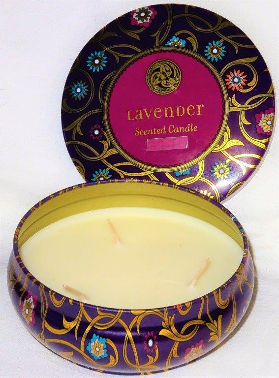 Bougie-Trois-Mèches-Candles-Parfum-Lavande