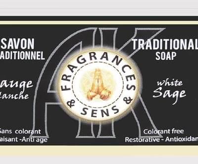 Savon-sauge-blanche -fragrances-&-sens -100g-bougievip