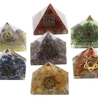 Les Orgonites Chakras 7 Pyramides