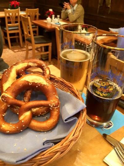 Beer & pretzels @ Zum Franziskaner, Munich: http://www.zum-franziskaner.de/