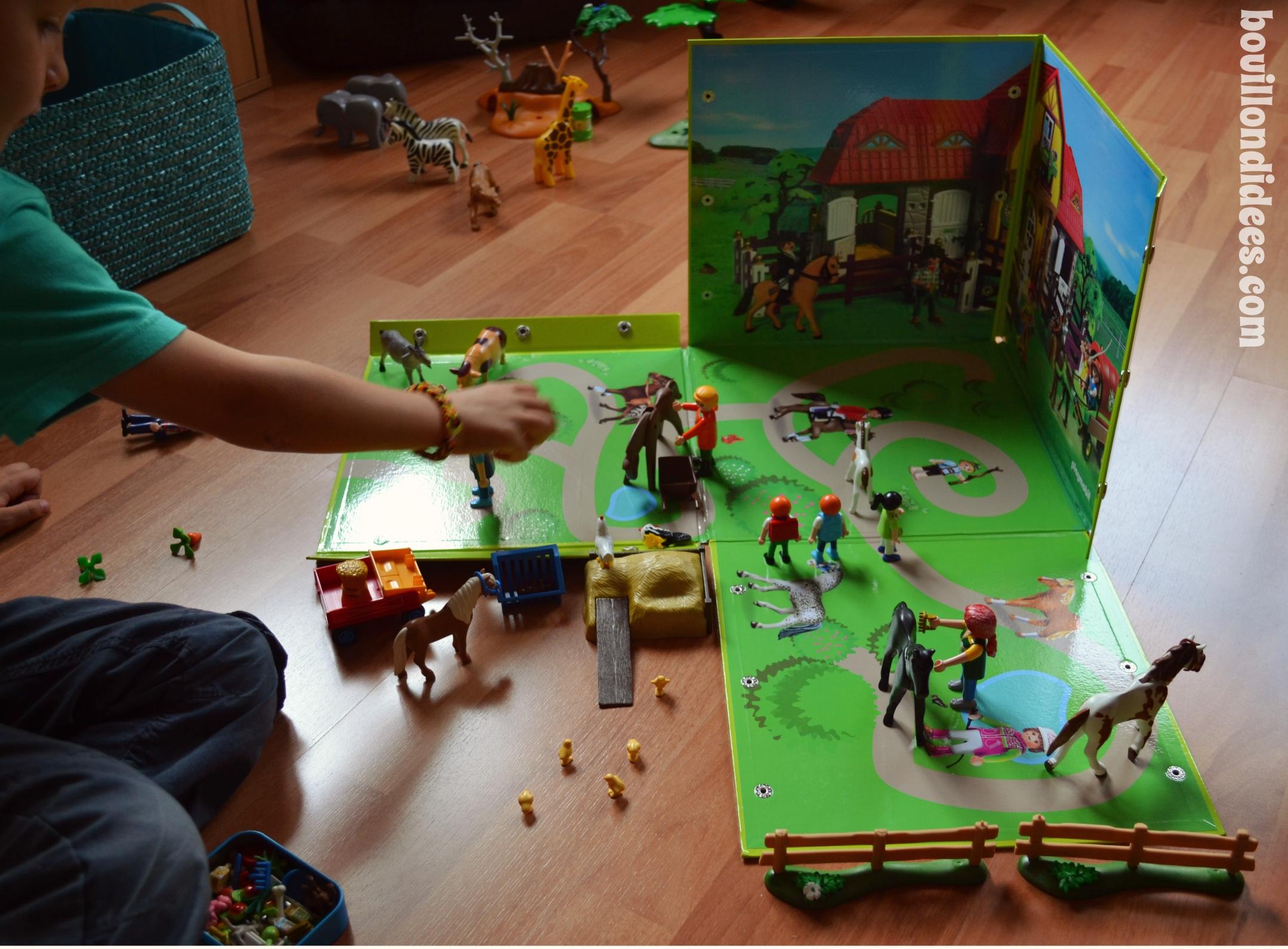 jouer et surtout ranger les playmobils