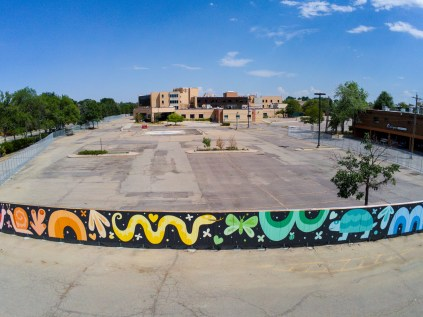 Mural by Allie Ogg, Photo Credit: Lauren Click, Office of Arts + Culture