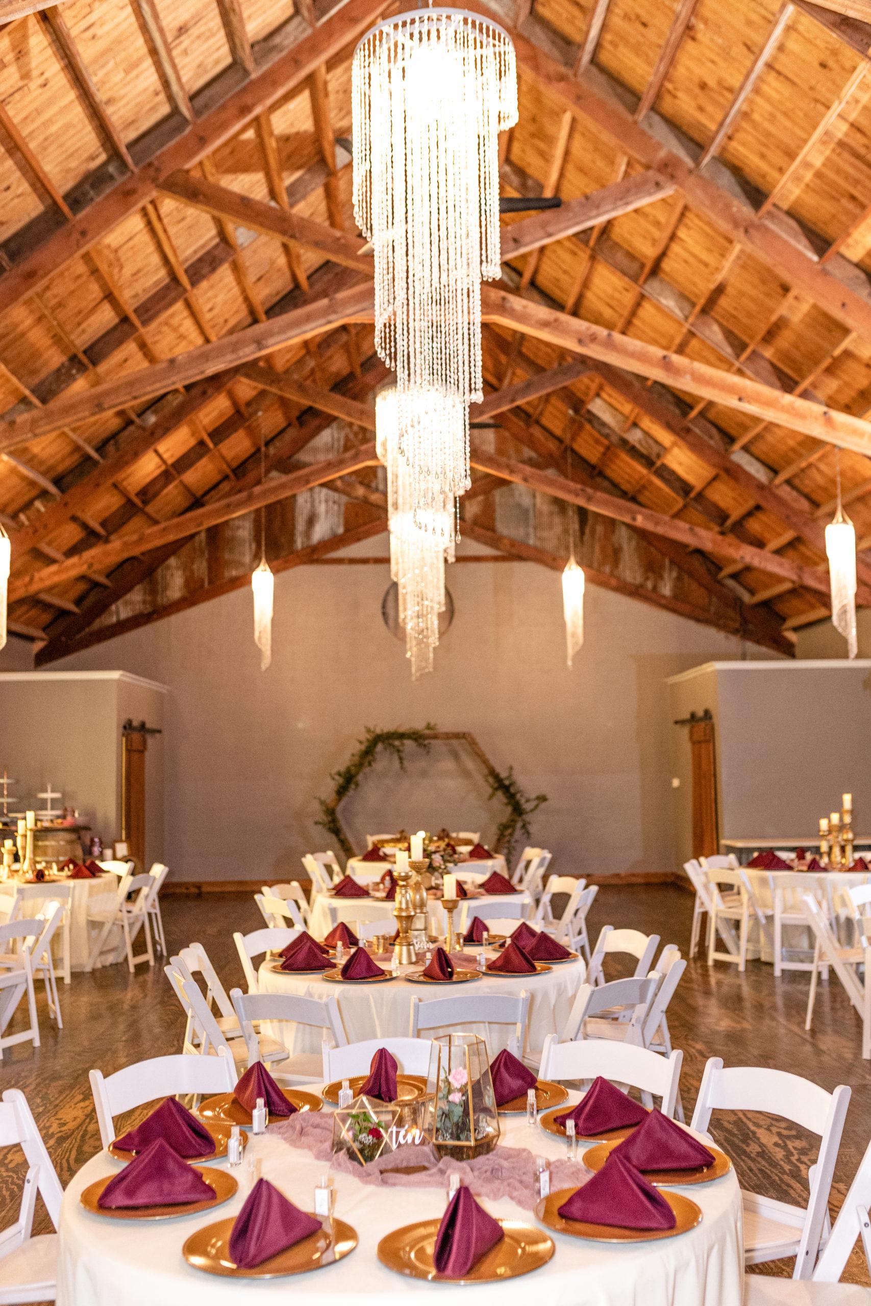 reception hall, wedding day, rustic