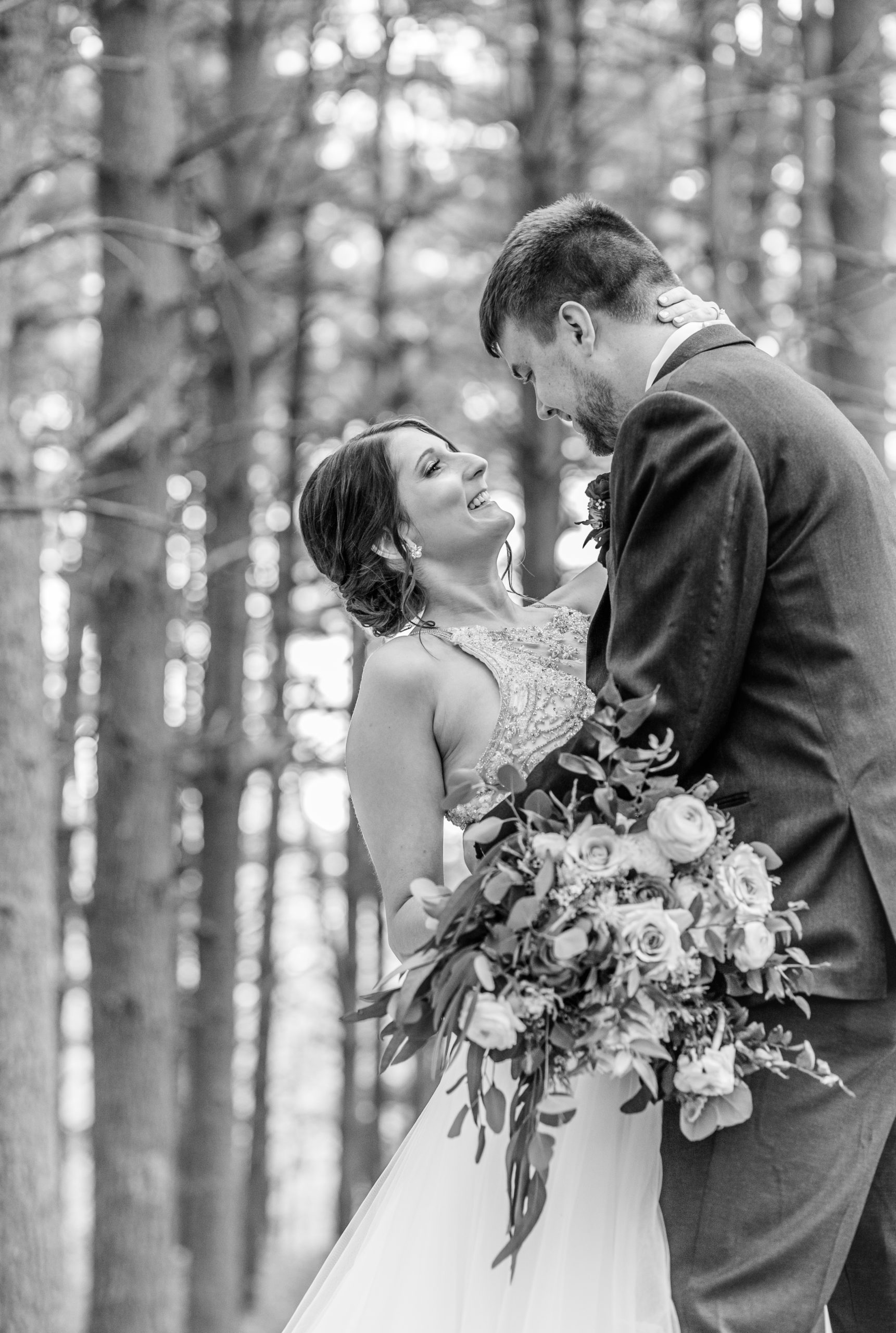 black and white, bride and groom, southern illinois photography