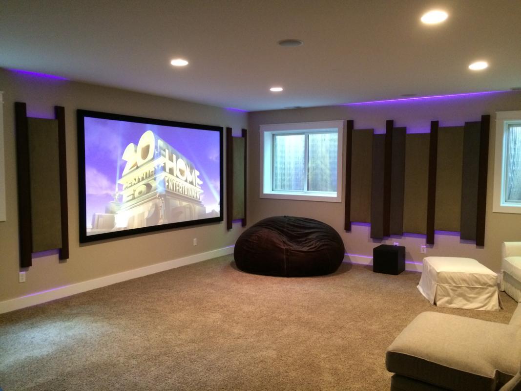 basement theater features 4k acoustic