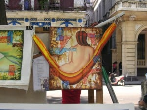 Art on the street in Havana