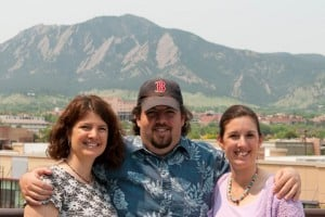 Shauna Sadow, her brother Gary Rosenberg and their sister Elyse.
