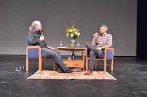 Ron Bostwick interviews Rob Simonsen at Reel Hope Boulder.