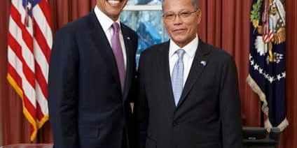Asterio Takesy and Barack Obama