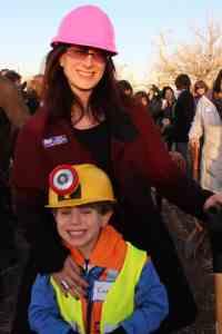 Beth and Ezra at Groundbreaking