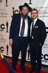 Rabbi Pesach Scheiner and BJCC Executive Director Jonathan Lev on the red carpet.