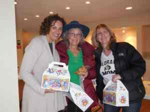 Lisa Webber, Har HaShem director of communications with JFS client Bella Barnett and her JFS Friendly Visitor Judy Herried.