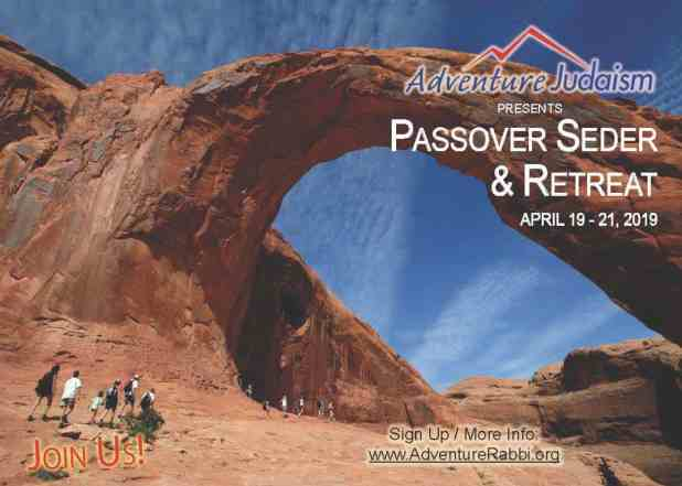 Adventure Judaism Passover Seder and Retreat