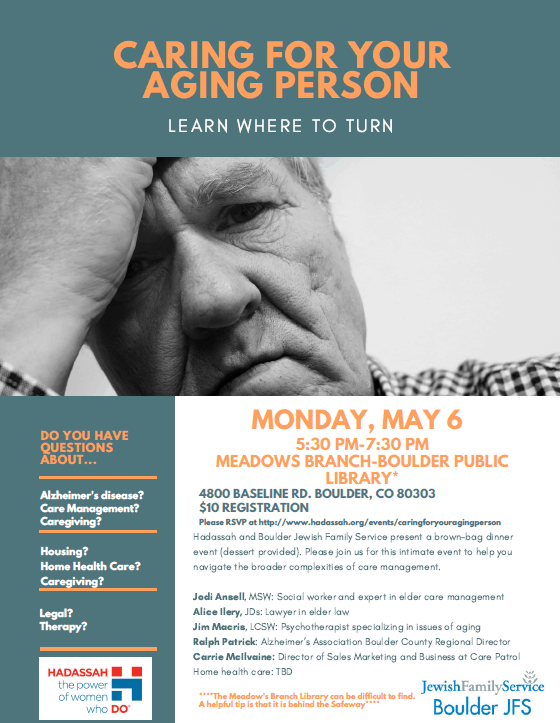 Caring for Your Aging Parent Flyer