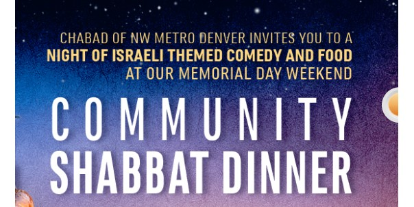 Add Humor and Israel-Themed Shabbat Dinner to Your Memorial Day Weekend Plans